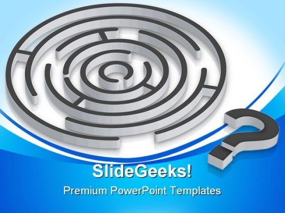 Confusion Maze Business PowerPoint Themes And PowerPoint Slides 0811