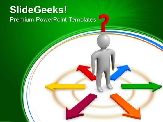 Confusion Person Symbol PowerPoint Templates And PowerPoint Themes 0512