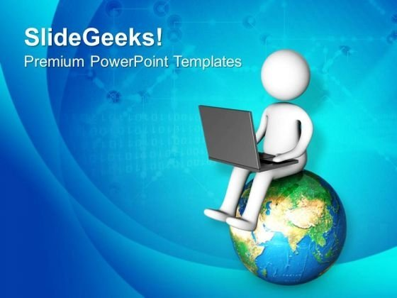 Connect With World Global Business Theme Powerpoint Templates Ppt