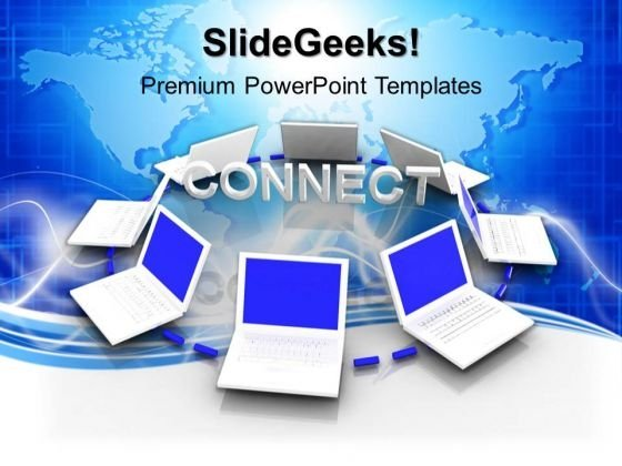 Connected White Computers Internet PowerPoint Templates And PowerPoint Themes 0912