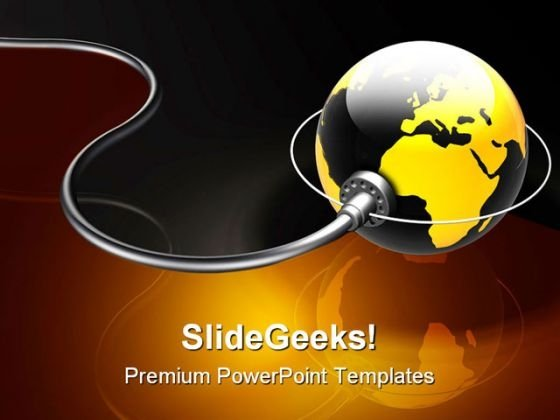 Connected World Globe PowerPoint Themes And PowerPoint Slides 0511