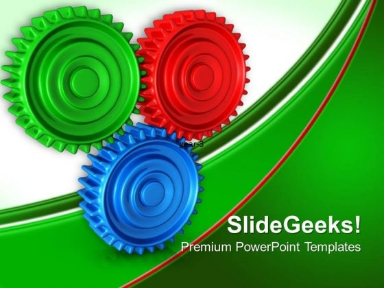 Connection Gearwheels PowerPoint Templates And PowerPoint Themes 0512