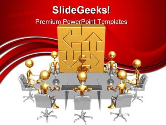 Connections Meeting Business PowerPoint Themes And PowerPoint Slides 0611