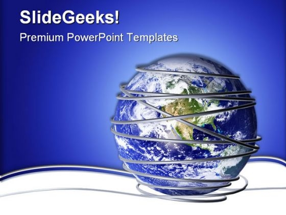 Connectivity And Security Global PowerPoint Backgrounds And Templates 1210