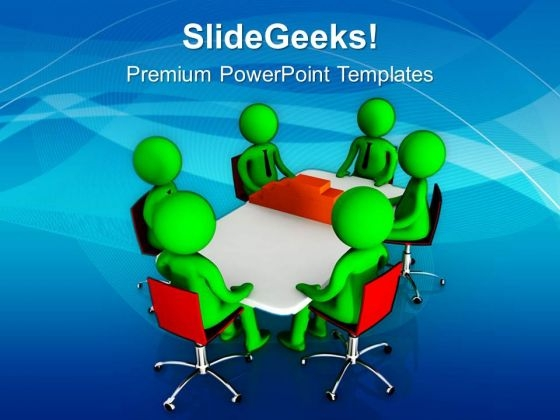 Construct Process In Business Meetings PowerPoint Templates Ppt Backgrounds For Slides 0613