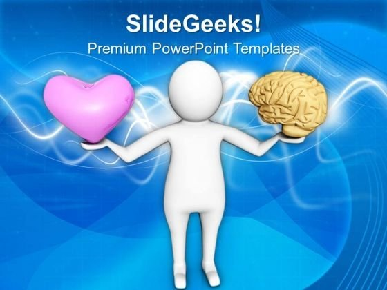 Control Your Heart With Brain PowerPoint Templates Ppt Backgrounds For Slides 0713