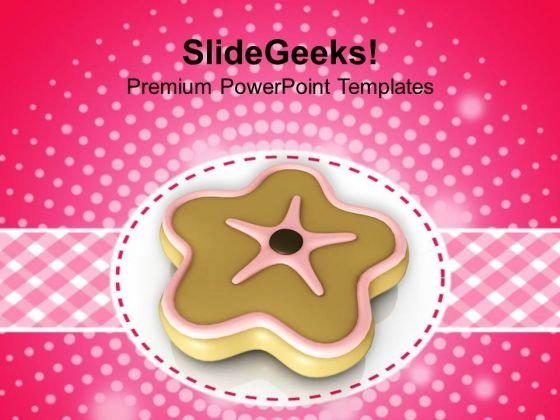 Cookies On Abstract Background Christmas Eve PowerPoint Templates Ppt Backgrounds For Slides 1212