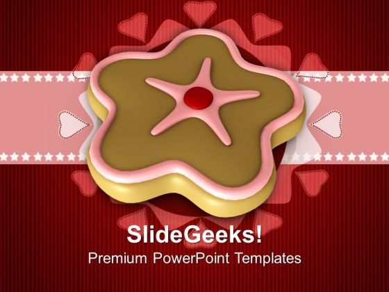 Cookies On Abstract Background Christmas PowerPoint Templates Ppt Backgrounds For Slides 1212