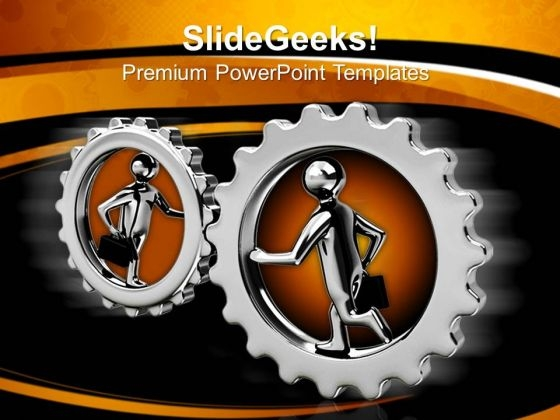 Cooperation Gears Business PowerPoint Templates And PowerPoint Themes 0612