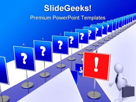 Correct Decisions Leadership PowerPoint Themes And PowerPoint Slides 0811