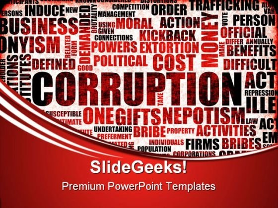 Corruption Business PowerPoint Themes And PowerPoint Slides 0411