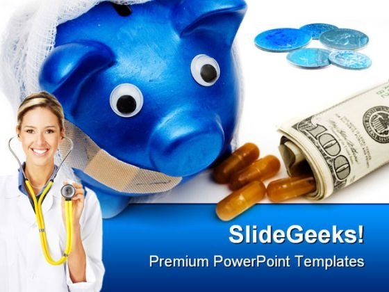 Cost Of Medicines Health PowerPoint Template 0610