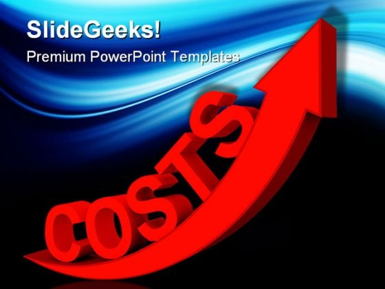 Costs Increases Business PowerPoint Themes And PowerPoint Slides 0411