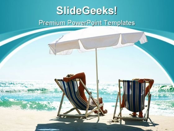Couple Enjoying Vacation Beach PowerPoint Templates And PowerPoint Backgrounds 0411