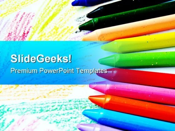 Crayons Art Education PowerPoint Templates And PowerPoint Backgrounds 0611