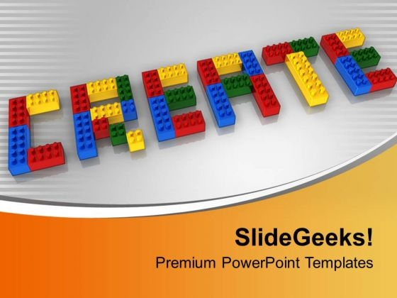 Create With Lego Blocks Realistic Business PowerPoint Templates Ppt Backgrounds For Slides 0113
