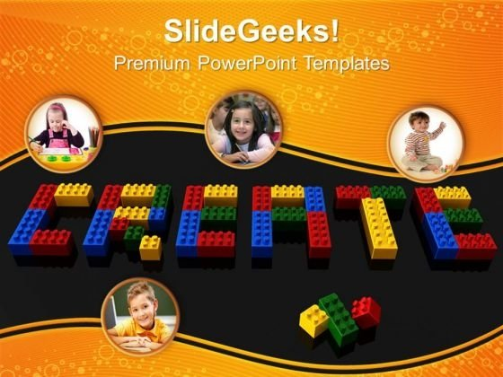 Create Word With Lego Blocks PowerPoint Templates And PowerPoint Themes 0912