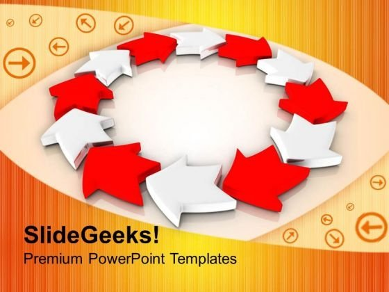Creative Circular Arrows Business Innovation PowerPoint Templates Ppt Backgrounds For Slides 0213