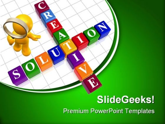 Creative Solution Business PowerPoint Templates And PowerPoint Backgrounds 0611