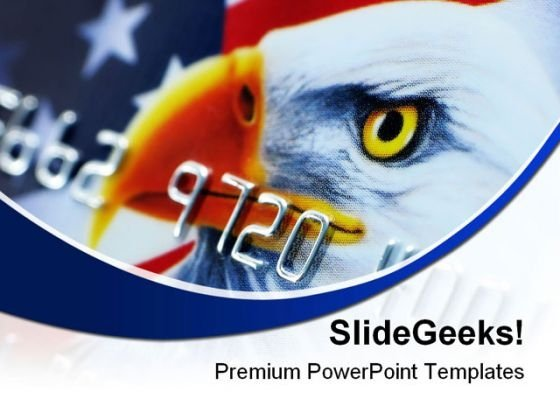 Credit Card Americana PowerPoint Themes And PowerPoint Slides 0711