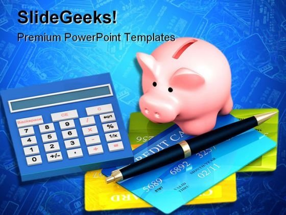 Credit Card Money PowerPoint Backgrounds And Templates 0111