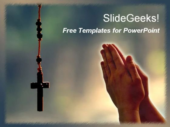 Christian Jesus Cross PowerPoint Template