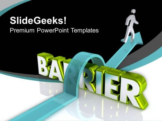 Cross All The Barrier PowerPoint Templates Ppt Backgrounds For Slides 0813