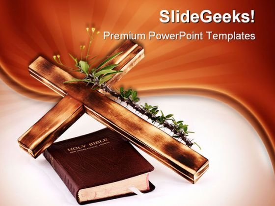 Cross And Bible Religion PowerPoint Themes And PowerPoint Slides 0211