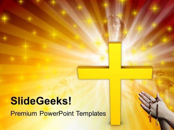 Cross Faith Religion Powerpoint Templates Ppt Backgrounds