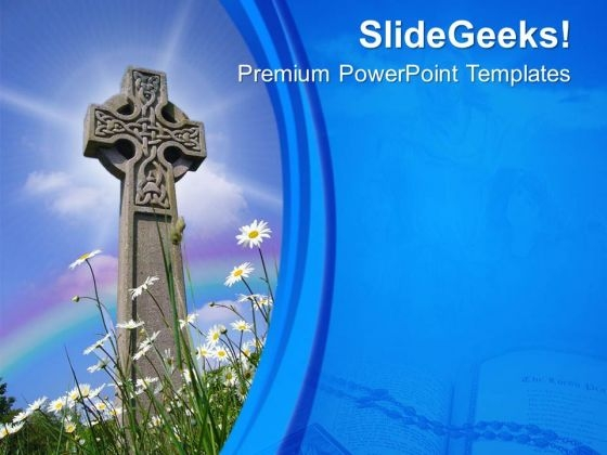 Cross Is Holy Symbol Of Christiams PowerPoint Templates Ppt Backgrounds For Slides 0613