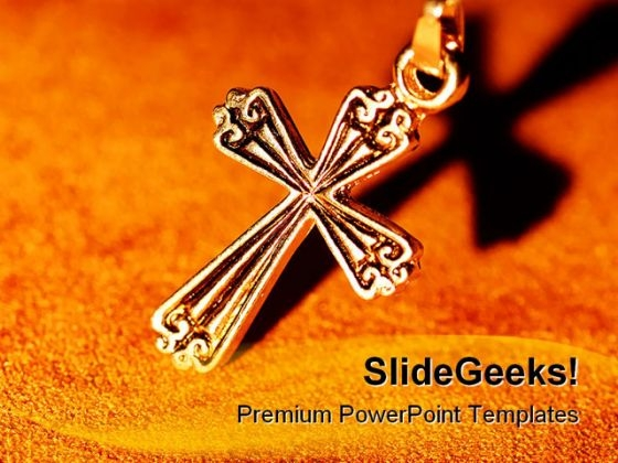 Cross Religion PowerPoint Themes And PowerPoint Slides 0411