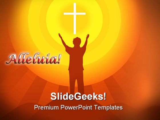 Cross Religion PowerPoint Themes And PowerPoint Slides 0811