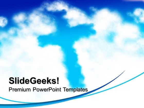 Cross Shaped Cloud Nature PowerPoint Templates And PowerPoint Themes 0712