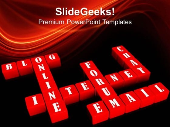 Crossword Shapes01 Internet PowerPoint Templates And PowerPoint Themes 0512