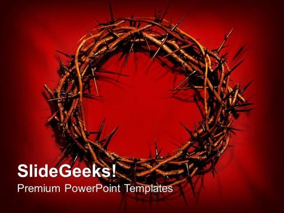 Crown Of Thorns Christian PowerPoint Templates And PowerPoint Themes 0712