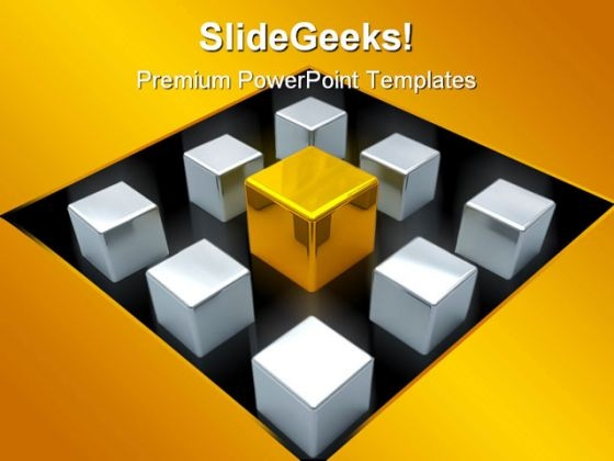 Cube Leadership PowerPoint Templates And PowerPoint Backgrounds 0611