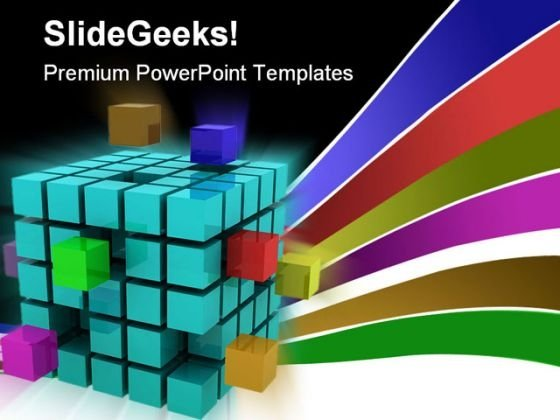 Cube Shape PowerPoint Template 0810