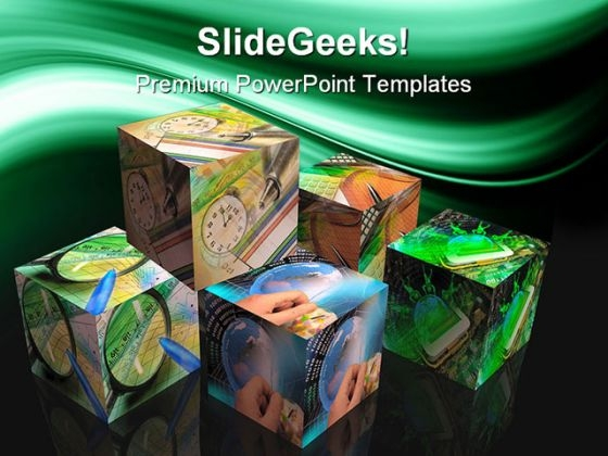 Cubes Business PowerPoint Templates And PowerPoint Backgrounds 0311