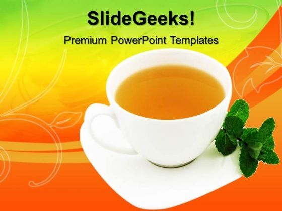 Cup Of Tea Health PowerPoint Templates And PowerPoint Themes 0612