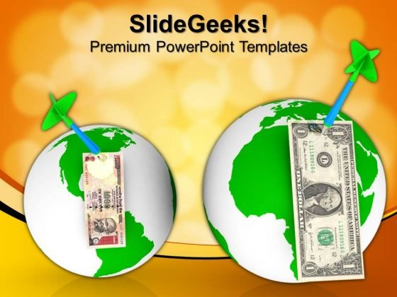 Currencies Over The Globe Worldwide Success PowerPoint Templates And PowerPoint Themes 1012