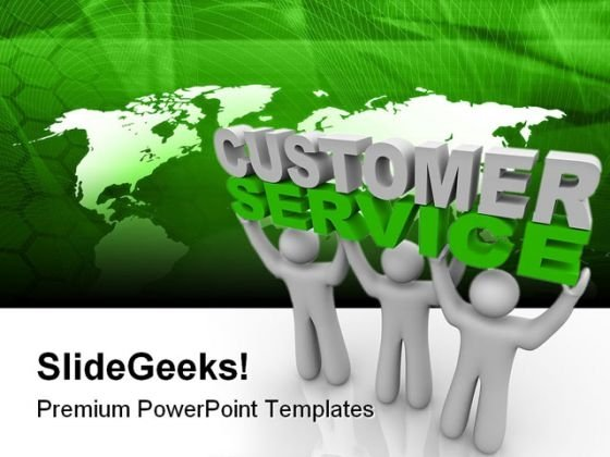 Customer Service Business PowerPoint Template 0910