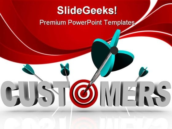 Customers Target Business PowerPoint Templates And PowerPoint Backgrounds 0411