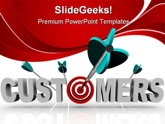 Customers Target Business PowerPoint Themes And PowerPoint Slides 0411