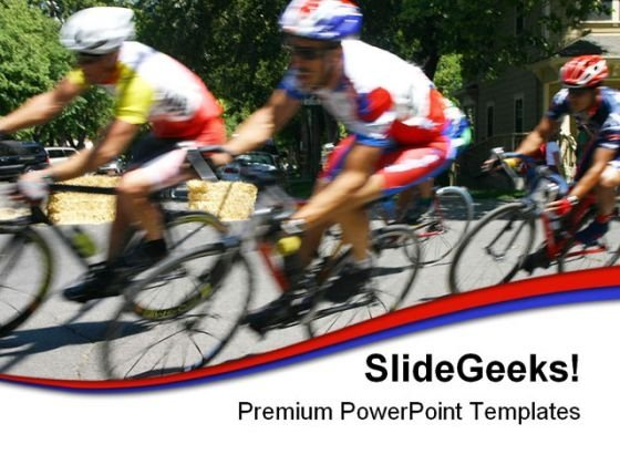Cyclists Racing Sports PowerPoint Templates And PowerPoint Backgrounds 0511