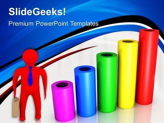 Cylinder Bar Graph Business PowerPoint Templates And PowerPoint Themes 0512