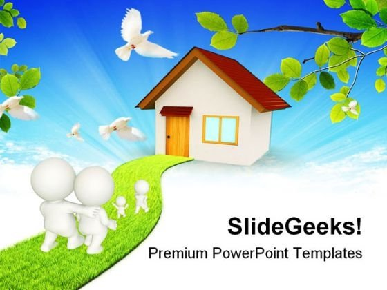 D Family Nature PowerPoint Themes And PowerPoint Slides 0211