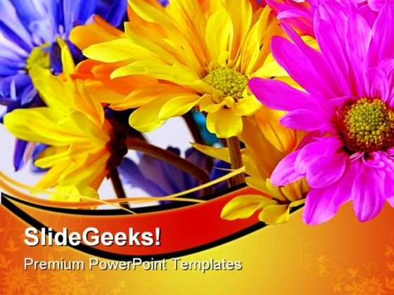 Daisies Flower Nature PowerPoint Themes And PowerPoint Slides 0511