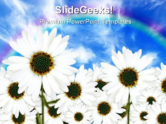 Daisies Nature PowerPoint Templates And PowerPoint Backgrounds 0411