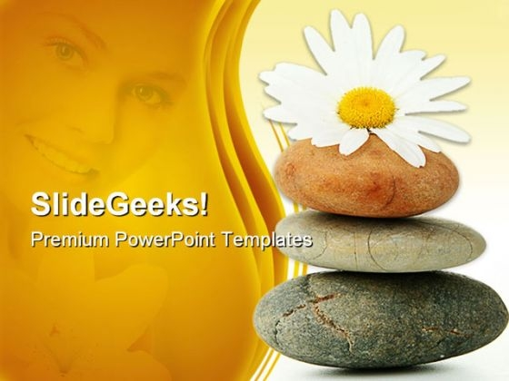 Daisy And Stones Nature PowerPoint Templates And PowerPoint Backgrounds 0311