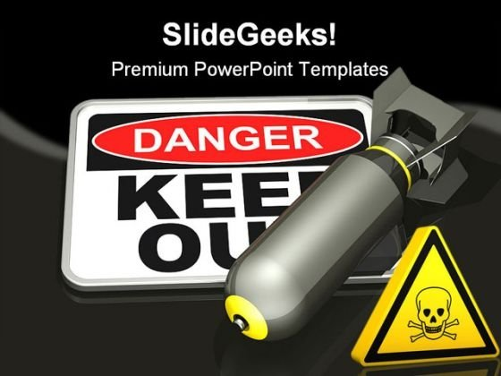 Danger Sign Metaphor PowerPoint Themes And PowerPoint Slides 0511